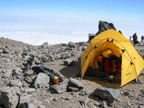 Arrow Glacier Camp 16,000 ft.